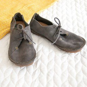 Clarks • Artisan Gray Leather Wallabees Loafers